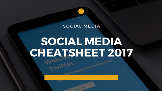 social media cheatsheet 2016